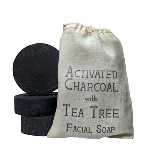 Activated Charcoal & Tea Tree Facial Soap