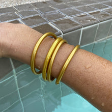 Load image into Gallery viewer, Matte Gold Dust Thai Bangles - Redeemed With Purpose