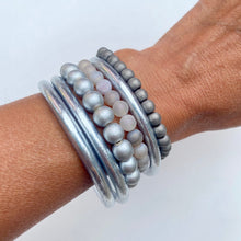 Load image into Gallery viewer, Silver Hematite Gemstone Bracelet image 0