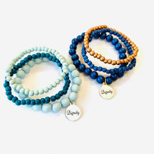 Load image into Gallery viewer, Defend Dignity Bracelets  Navy & Copper image 5