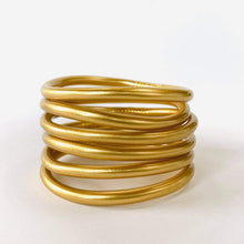Load image into Gallery viewer, Matte Gold Dust Thai Bangles Set of 6