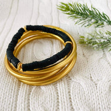 Load image into Gallery viewer, Matte Gold Dust Thai Bangles image 2