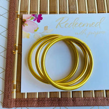 Load image into Gallery viewer, Matte Gold Dust Thai Bangles image 1