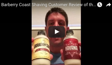 Customer Video Review of the Bay Rum Balm and Havana Balm Aftershaves