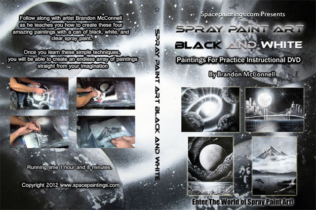 Spray Paint Art Black And White DVD