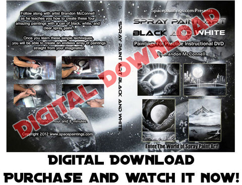 Spray Paint Art Black And White (Digital Download)