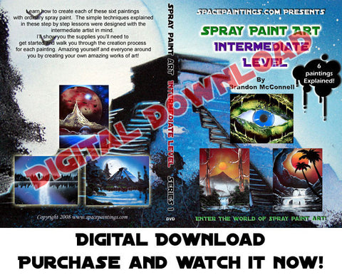 Spray Paint Art Intermedtate Level DVD (Digital Download)