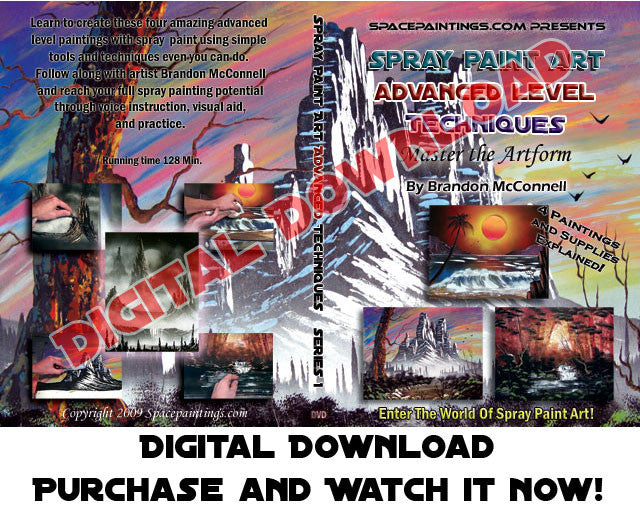 Spray Paint Art Advanced Level (Digital Download)