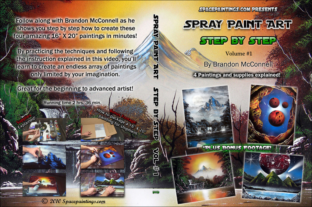 Spray Paint Art Step By Step