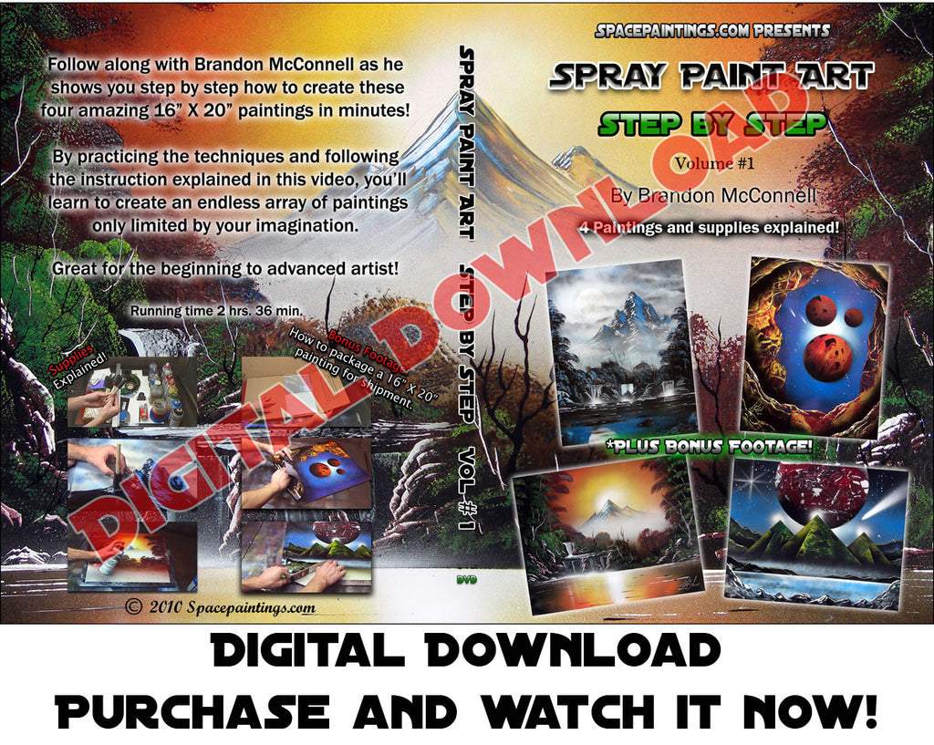 Spray Paint Art Step By Step (Digital Download)