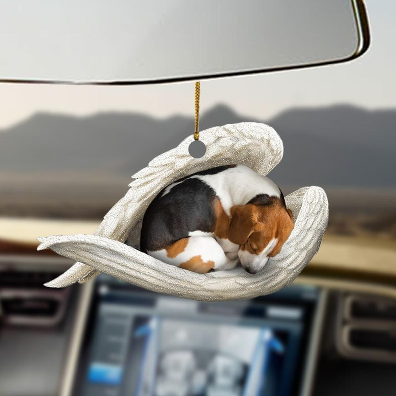 Beagle sleeping angel beagle lovers dog moms ornament