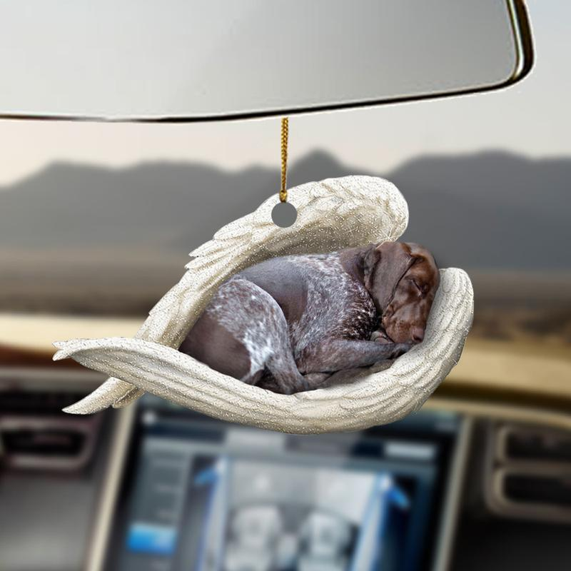 GSP dog mom sleeping angel Car Hanging