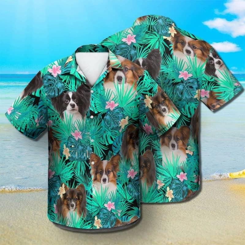 PAPILLON SUMMER LEAVES - HAWAIIAN SHIRT