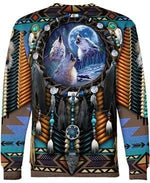 Load image into Gallery viewer, Native Amerian Wolf Dreamcatcher 3D Print Hoodie