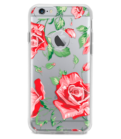Funda para Celular (Hard 360) Red Flowers