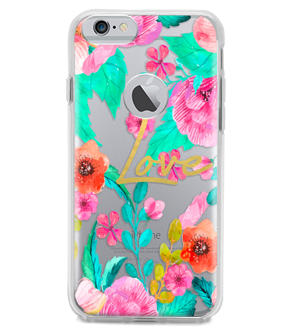 Funda para Celular (Hard 360) Love Flowers