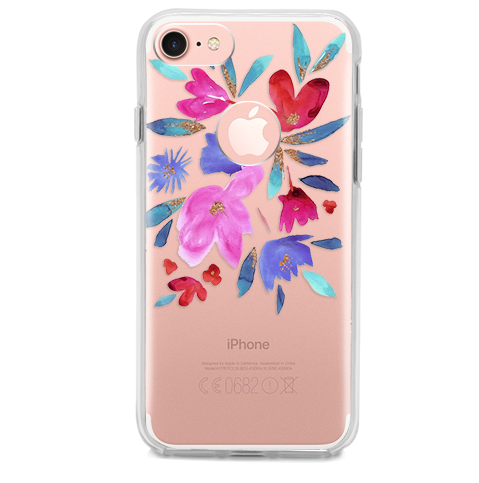 Funda para Celular (Hard 360) Paint Color Flowers