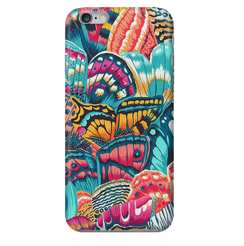 Funda Funda para Celular (Slim) Flowers Butterfly Pattern - Case Love - 1