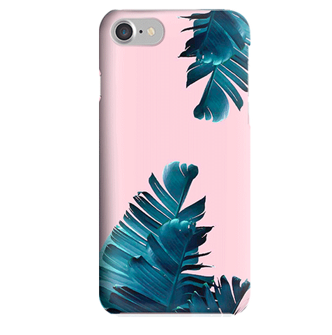 Funda para Celular (Slim) Palm leaves Pink