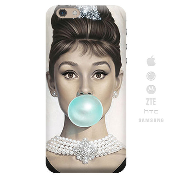 Funda Funda para Celular (Slim) Audrey Hepburn Chicle - Case Love
