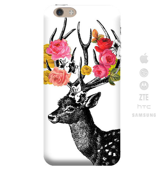 Funda Funda para Celular (Slim) Flowers Horns - Case Love