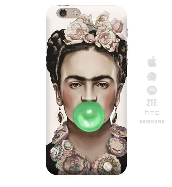 Funda Funda para Celular (Slim) Frida Chicle verde - Case Love