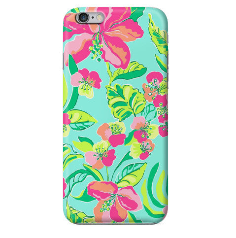 Funda Funda para Celular (Slim) Flowers Seamless - Case Love - 1