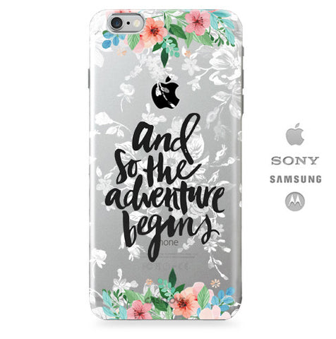 Funda para Celular (Jelly) The Adventure Begins