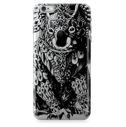 Funda Funda para Celular (Jelly) Koala Drawing (Mandala) - Case Love - 1
