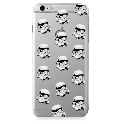 Funda para Celular Transparente (Jelly) Star Wars - Stormtrooper - Pattern