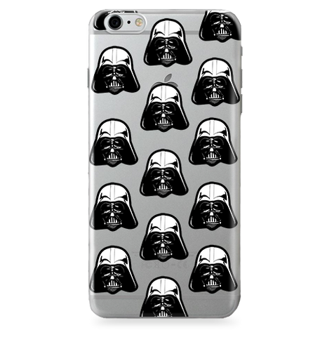 Fundas para Celular Transparente (Jelly) Star Wars - Darth Vader - Pattern