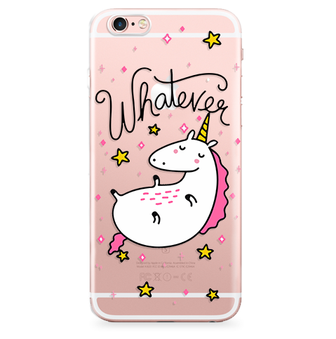 Funda Case Transparente (Jelly) Unicorn Pink - Case Love - 1