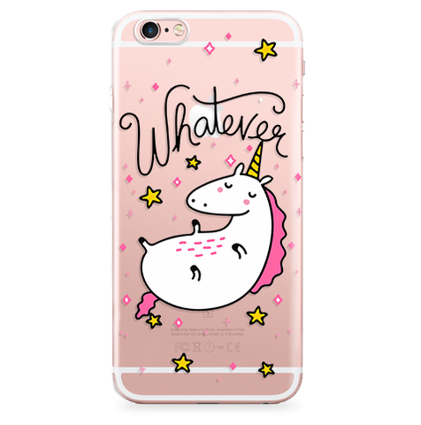 Case Transparente (Jelly) Whatever Unicorn Pink