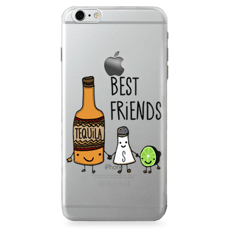 Case Transparente (Jelly) Tequila Best Friends