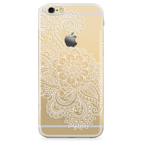 Case Transparente (Jelly) Mandala Flower