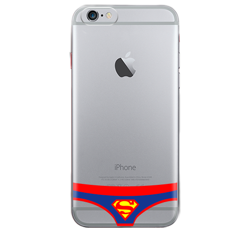 Funda para Celular (Jelly) Briefs Super Man