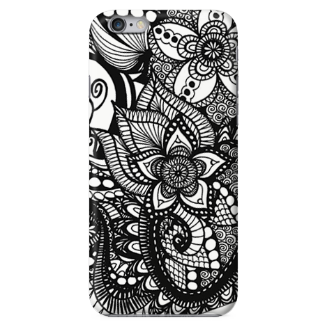Funda Funda para Celular (Slim) Mandala Black and White - Case Love