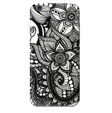 Funda para Celular (Slim) Mandala Black and White
