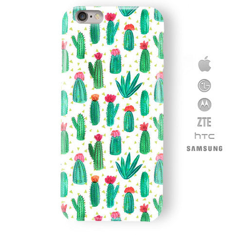 Funda Funda para Celular (Slim) Cactáceas Floreadas - Case Love