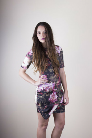 Collision Floral Dress