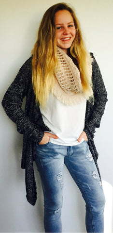 Layered Knit Cardie - Vanilla May Boutique  - 1