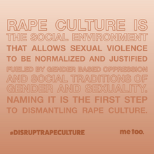 Load image into Gallery viewer, Disrupt Rape Culture Earth SS