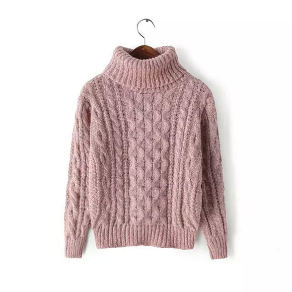 Women's Turtleneck Pullover 2020 Autumn Sweaters Women Casual Knitted O-Neck Striped Femme Women Sweaters