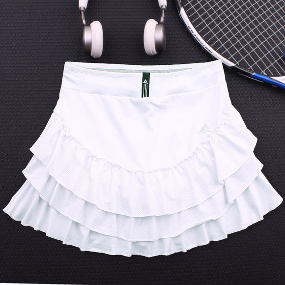 Women's Flower Bloss Tennis skorts with Built In Short , Female Layered Tennis Skort , Women Running Sports Shorts Yoga Skirt