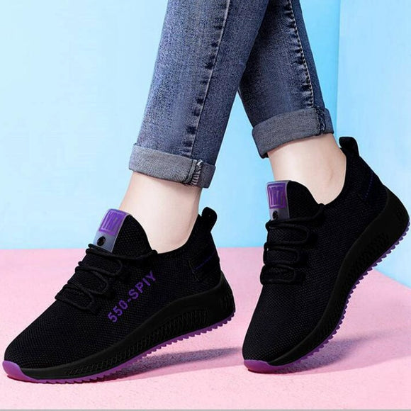 2021 Spring And Summer Korean Fashion All-Match Women's Shoes Sports Shoes Light Casual Shoes Non-Slip Soft Sole Shoe Size:35-40