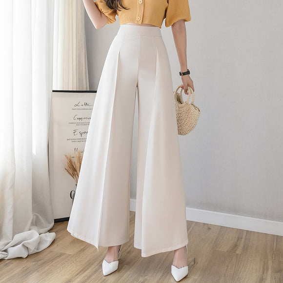 Casual Womens clothing Summer 2021 New Chiffon Loose Pants Women's High-Waist Vertical Thin Split cargo Women Pants Skirt 68i