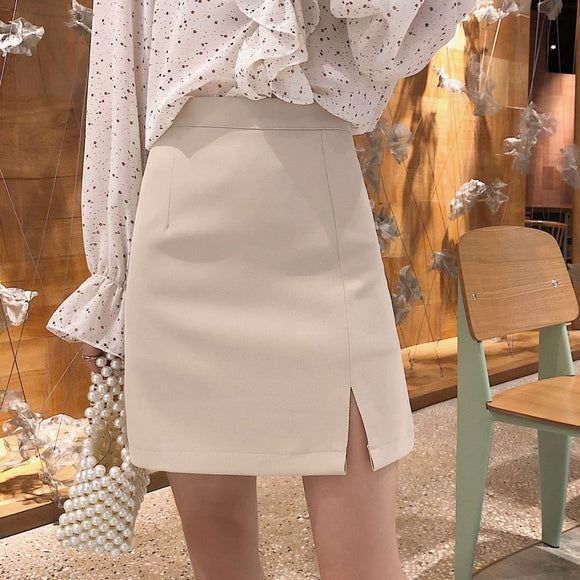 A- line Skirt Women's Autumn and Winter 2020 High Waist Skirt Skirt Woman Skirts Mujer Faldas Saias Mulher