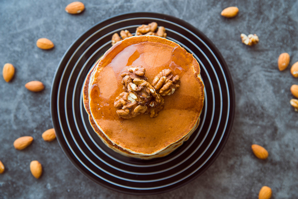 top-view-pancakes-with-walnuts