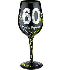60 Aged To Perfection - Wine Glass