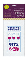 90% Chance of Wine - Kitchen Towel